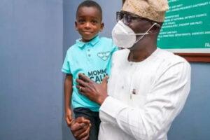 "Governor Sanwolu Finally Meets ""Mummy Calm Down"" Boy."