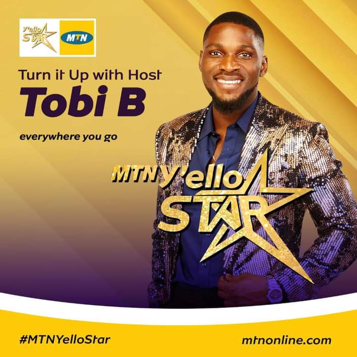 Tobi Bakre is a host in MTN Yello Star reality show 2020