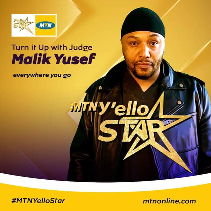 Malik Yusef is a host in MTN Yello Star TV Reality Show 2020