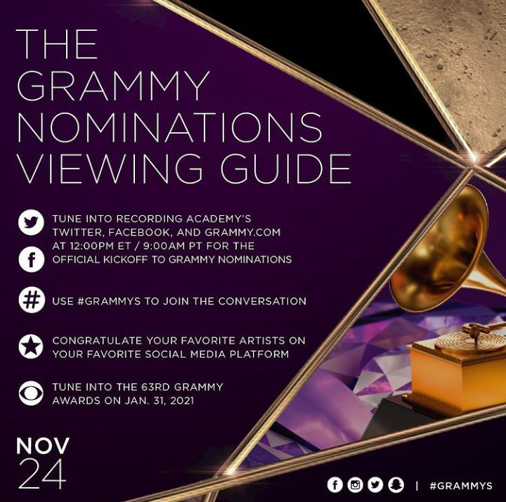 2021 Grammy Nominations: Here Is How To Watch It