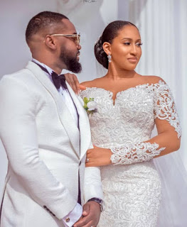 """God made it possible"" – Williams Uchemba pens appreciation message as he officially releases his wedding photos"