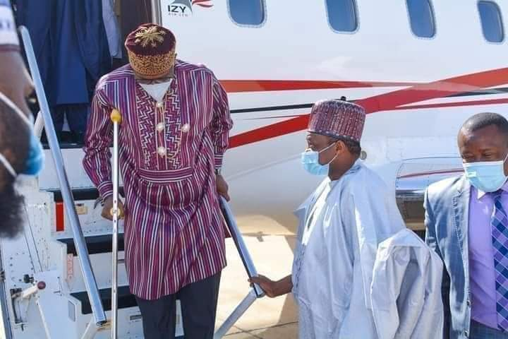 Rotimi Amaechi Spotted With Crutches At The Airport (Pictures)