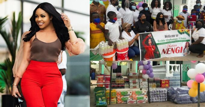Nengi makes huge donation to orphanage home in Ghana (Video)