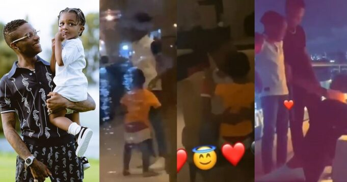 Wizkid excited as his baby mamas, Shola and Jada settle their difference and his sons, Bolu and Zion link up (Video)