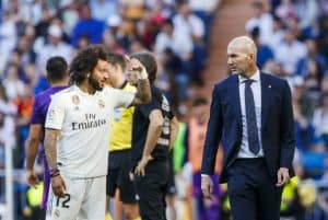 Bursted! Marcelo is axed from the Real Madrid squad 'after a bust-up with boss Zinedine Zidane